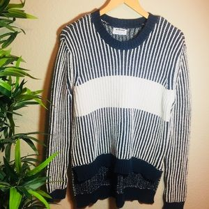 OneTeaspoon striped navy and white baggy sweater